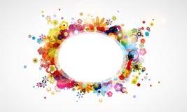 fond coloré de flore de fleur illustration stock