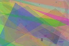 Fond coloré de formes Photographie stock