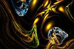 Fond coloré de fractale abstraite avec des baisses magiques Photo stock