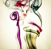 Fond coloré de fumée Images libres de droits
