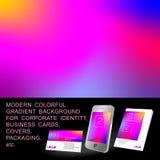 Fond coloré de gradient Photo stock