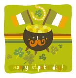 Fond coloré de jour du ` s de St Patrick illustration stock