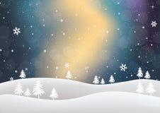 Fond coloré de l'hiver Image libre de droits