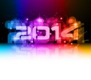 Fond coloré de la nouvelle année 2014 Images libres de droits