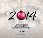 Fond coloré de la nouvelle année 2014 Photos libres de droits