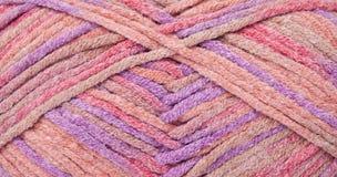 Fond coloré de laine Images libres de droits