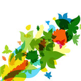 Fond coloré de lames d'automne Illustration de vecteur Photo libre de droits