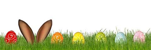 Fond coloré de lapin de Pâques Photos stock