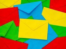 Fond coloré de lettre d'accompagnement Photos libres de droits