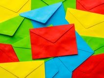 Fond coloré de lettre d'accompagnement Photo stock