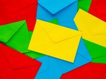 Fond coloré de lettre d'accompagnement Photographie stock