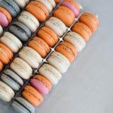 Fond coloré de macarons Image libre de droits