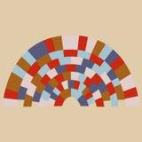 Fond coloré de modèle de cercle de brique | conception d'architecture de texture Photos libres de droits