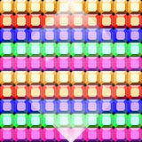 Fond coloré de modèle de coupe de place de gemme Images libres de droits