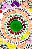 Fond coloré de modèle de mosaïque chez Wat Phasornkaew en Thaïlande photographie stock libre de droits