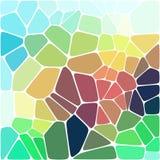 Fond coloré de mosaïque abstraite de vecteur Images libres de droits