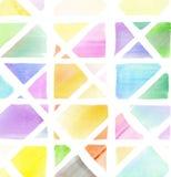 Fond coloré de mosaïque d'aquarelle Images libres de droits