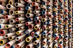 Fond coloré de mouvement de tuyaux Photographie stock libre de droits