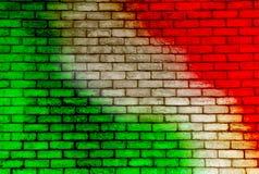 Fond coloré de mur de briques illustration de vecteur