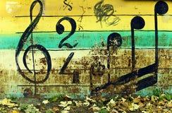 Fond coloré de musique Photo libre de droits