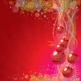 Fond coloré de Noël Images stock