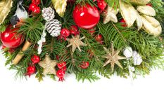Fond coloré de Noël Décoration d'hiver photographie stock libre de droits