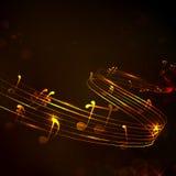 Fond coloré de note musicale Image libre de droits
