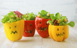 Fond coloré de nourriture de Halloween Image stock