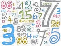 Fond coloré de numéros Image libre de droits