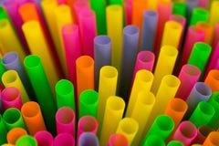 Fond coloré de pailles Photographie stock libre de droits