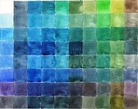 Fond coloré de palette d'aquarelle Images stock