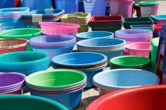 Fond coloré de panier de groupe Photographie stock
