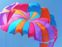 Fond coloré de parachute photographie stock libre de droits