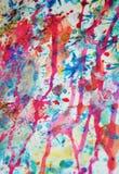 Fond coloré de peinture dans des couleurs oranges en pastel, roses, violettes, bleues Photo libre de droits