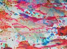 Fond coloré de peinture en argent, rose, violette, couleurs oranges bleues Photo stock