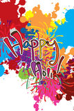 Fond coloré de peinture heureuse de Holi Images libres de droits