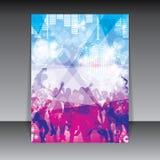 Fond coloré de peuples de partie de disco illustration stock