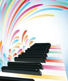 Fond coloré de piano Image stock