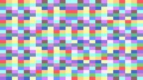 Fond coloré de pixel des rectangles changeant des couleurs dans une boucle illustration de vecteur