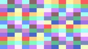 Fond coloré de pixel des rectangles changeant des couleurs dans une boucle illustration libre de droits