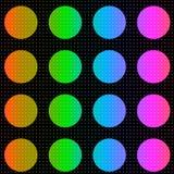 Fond coloré de points de polka illustration de vecteur