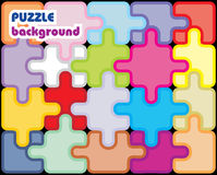 Fond coloré de puzzle Images stock