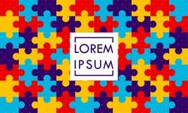 Fond coloré de puzzle - vecteur illustration libre de droits