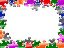 Fond coloré de puzzles Images libres de droits