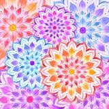 Fond coloré de ressort de fleur Images libres de droits