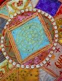 Fond coloré de tissu Photos libres de droits