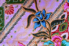Fond coloré de tissu de tissu de batik Photo stock