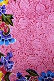 Fond coloré de tissu de tissu de batik Images libres de droits
