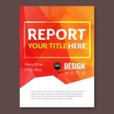 Fond coloré de triangle de design d'entreprise Goupilles et graphique infographic, magazine de couverture, vecteur de calibre de  Images stock