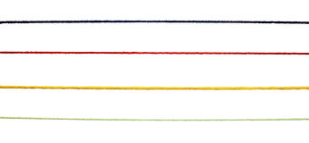 Fond coloré de tricotage de cordon de chaîne de caractères de laines Images stock